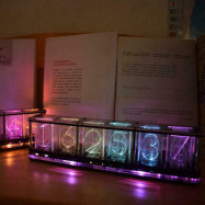 Imitate Full Color RGB Glow Tube Clock LED Music Spectrum DIY Kits Decor Gift
