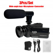 18x Zoom 1080P HD Digital Camcorder Video Vlogging Camera External Mic DV Remote
