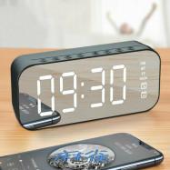 Digital Alarm Clock FM Radio Wireless Bluetooth5.0 Mirror LED Clock With Speaker