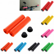 1Pair MTB Soft Foam Silicone Sponge Handle Bar Grips Handlebar Bike Bicycle