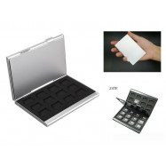 Durable 24TF Micro SD Card Holder Silver Aluminum Memory Card Storage Case Box