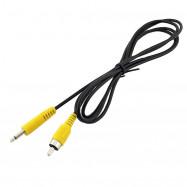 "1.5M 3.5mm 1/8"" Mono Male Plug To Single RCA Male Audio Video Cable Adapter Cord"