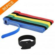 50pcs Reusable Cable Cord Tie Strap Organizer Wire Wrap Tidy Straps Fastener
