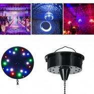 "6RPM RGB Light Rotating Motor 18 LED For Mirror Disco Ball 6"" 8"" 12"" DJ Party US"