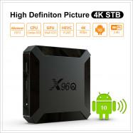 X96Q 1G+8G/2G+16G Android 10.0 H313 Quad Core TV BOX 2.4G WiFi 4K 3D Media USB