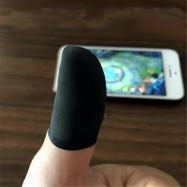 10PCS Mobile Finger Sleeve TouchScreen Game Controller Sweatproof Gloves Black