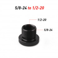 5/8-24 to 1/2-20 Automotive Threaded Oil Filter Adapter Black Knurled 1Pcs