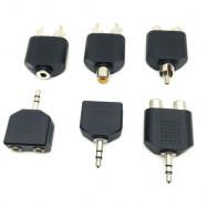 3.5mm to Dual 2 RCA Female Male Jack Y Splitter Audio Adapter Converter Black