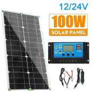 100W Solar Panel Kit 12V battery Charger 10-50A Controller Caravan Boat RV