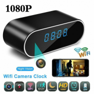 HD 1080P Clock Camera Clock WiFi Wireless Night Vision Security Nanny Cam