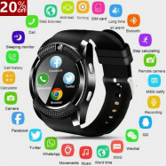 V8-Bluetooth Smart Watch Waterproof SIM Camera Wrist Watches Kids For Android