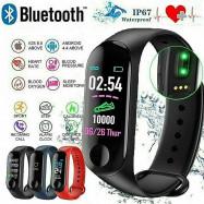 Waterproof Smart Watch Boys Girls Men Women Sports Gym Fitness Health Tracker