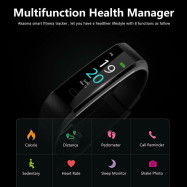 Bluetooth Smart Watch Heart Rate Fitness Tracker Bracelet Pedometer Fit