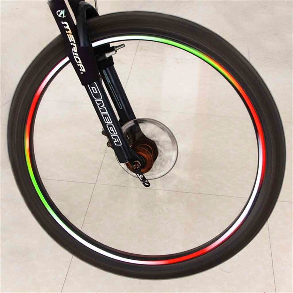 Bicycle Tire Reflective Stickers Colorful Bike Cycling Wheel Rim Stickers
