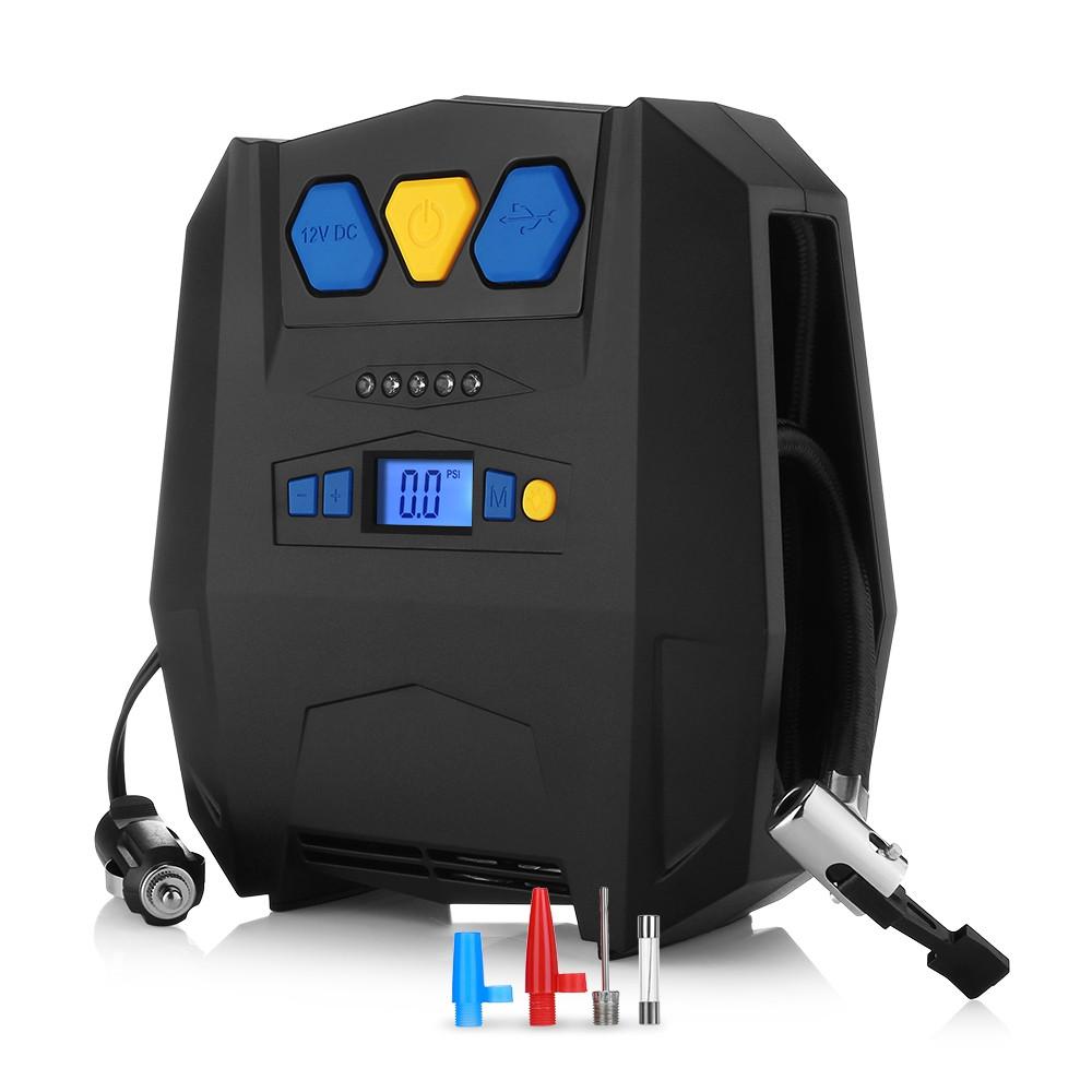 YY - 3602 Portable Car Air Pump with USB Charging Port
