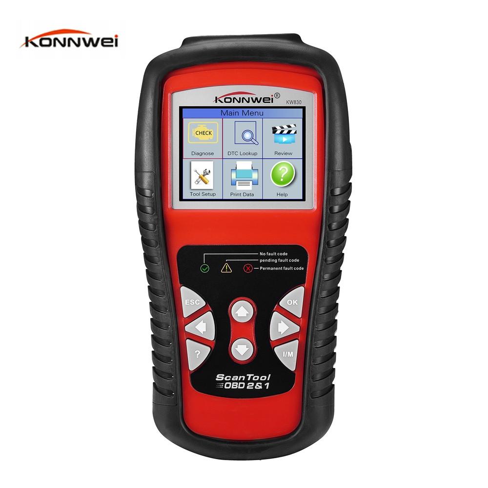 Konnwei KW830 OBDII Vehicle Diagnostic Scan Tool LCD Screen