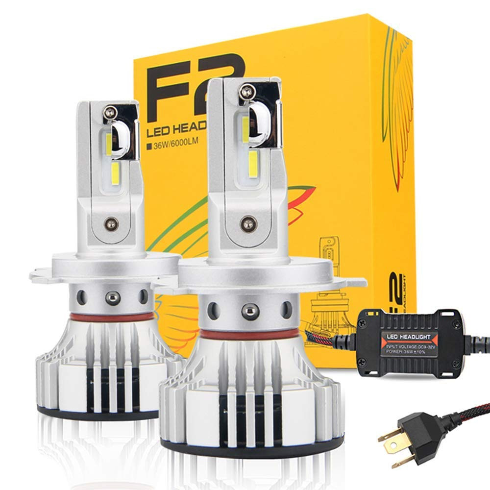 F2 72W H4 Hi/Lo Car LED Headlight Kit Bulbs Super Bright LED Chips 9003 12000Lm