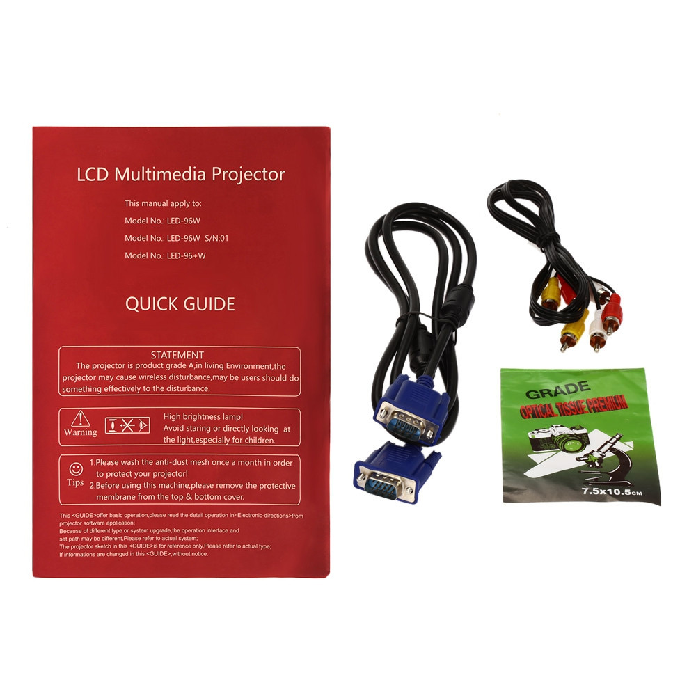 LED - 96 + LCD Projector 2800 Lumens 1280 x 800 Pixels