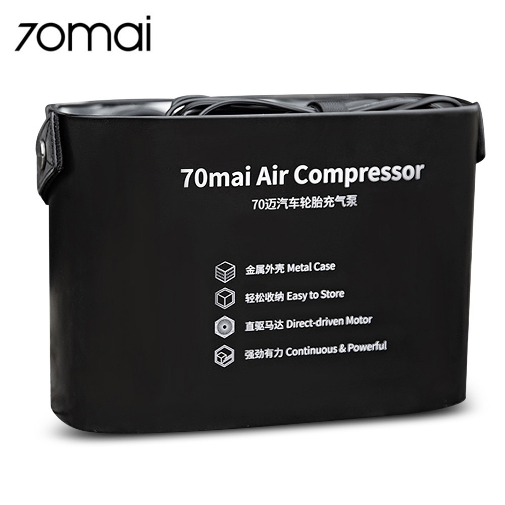 70mai TP01 DC 12V Auto Air Compressor Pump 100 psi Inflatorwith Tire Pressure Gauge for Most Items