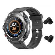 T92 Smart Watch Men TWS Bluetooth 5.0 Earphone Call Music Body Temperature DIY Watch Face Sport Smartwatch Waterproof