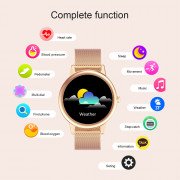 Smart Watch Women E1-0 IP68 Waterproof Full Touch Screen Bluetooth Multi-Mode Sports Smartwatch Tracker Fitness For Android IOS