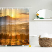 The Sun Shines Polyester Shower Curtain Bathroom Curtain High Definition 3D Printing Water-Proof