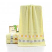 3 Pcs Face Towels Set Modern Fresh Color Plaids Pattern Soft Towels