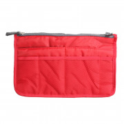 Portable Double Zipper Storage Bag Insert Organizer Handbag Women Travel Bag for Cosmetics