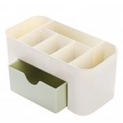 Cosmetic Jewelry Organizer Office Storage Drawer Desk Plastic Makeup Brush Box Lipstick Remote Control Holder