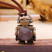 Retro Cartoon Robot Shape Pocket Quartz Keyring Watch Pendant Gifts