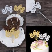 Cake Topper Novel Balloons Design Letters Pattern Design Decorative