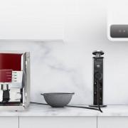 Retractable Pop Up Kitchen Desktop Socket with 3 Power Socket 2 USB Charging Port