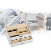 12 Grids Double-layer Glasses Storage Box