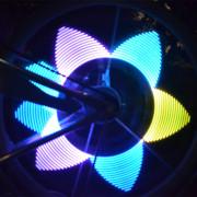 WHEELIGHT N016C Colorful 32 LEDs Bicycle Wheels Flashing Signaling Light
