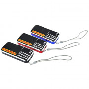 L - 088AM Portable Mini Speaker MP3 Audio Player with Flashlight Support TF AM FM Radio