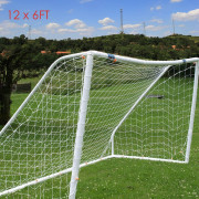 12 x 6FT Football Net for Soccer Goal Post Junior Sports Training