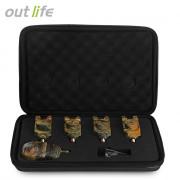 Outlife JY - 35 Camouflage Fishing LED Bite Alert Receiver Set