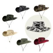 Unisex Outdoor Anti UV Bucket Fishing Hat