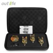 Outlife JY - 35 - 3 Camouflage Fishing Bite Alert Receiver Set
