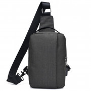USB Charging Shoulder Chest Bag Sports Canvas for Outdoor