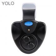 YOLO Electronic Fishing Bite Alarm LED Light Wireless Sound Alert Buzzer