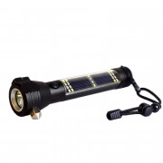 Emergency Safety USB Multi-Function Solar Escaping Rescue Flashlight Hammer Torch