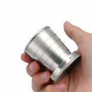 Stainless Steel Portable Outdoor Camping Collapsible Cup Telescopic Keychain