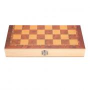 3-in-1 Folding Board Portable Wooden International Chess Set