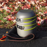 Portable Camping Bowl Pot Set Outdoor Aluminum Cookware Picnic Folding Tableware