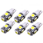 6PCS T10 W5W 158 194 2.5W 5050 5SMD LED Bulb Car Epistar LED Clearance Light