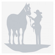 Reflective Cowgirl and Horse Decal Car Scratches Sticker