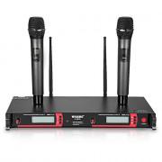 WEISRE U - 8030 Dual Channel UHF Wireless Microphone Set