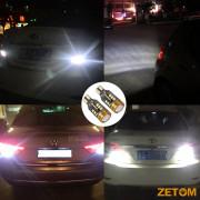 ZETOM Extremely Bright Error Free 921 912 T15 W16W 24SMD 1 COB 6000K Chipsets 2835 LED Bulbs Backup Reverse Light 2-Pack