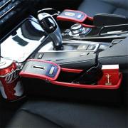 Pair PU Leather Car Storage Bag Car Seat Pocket Organizer with Coin Pot
